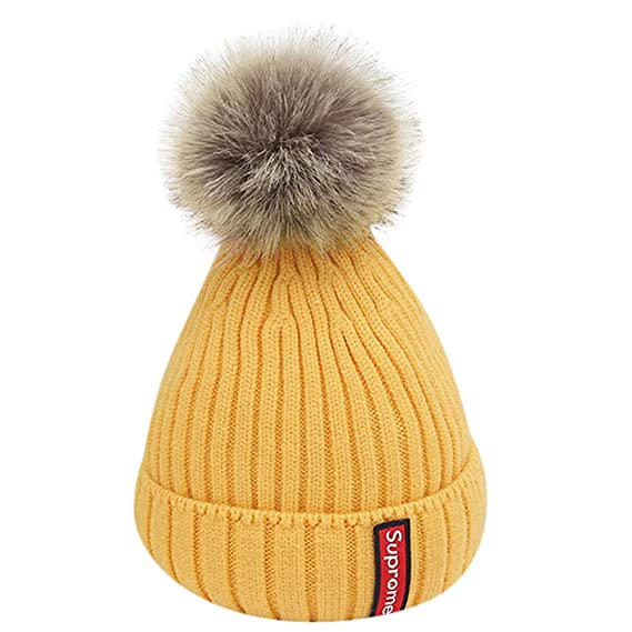 QinMM 0-5 años Infantil bebé Sombrero de Lindo Gorras de Punto Crochet otoño Invierno niños niñas Beanie: Amazon.es: Ropa y accesorios
