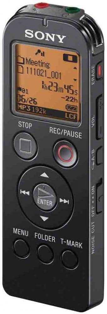 Sony Icd Ux523fb 4gb Diktiergerät Mit Radio Tuner Schwarz Bürobedarf Schreibwaren