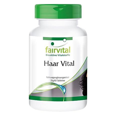 Haar Vital - para 2 meses - Alta dosificación - 60 comprimidos - con Vitaminas,