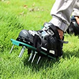 Wistar Lawn Aerator Shoes Metal Buckles and 3 Straps - Heavy Duty Spiked Sandals for Aerating Your Lawn or Yard, Universal Size That Fits All