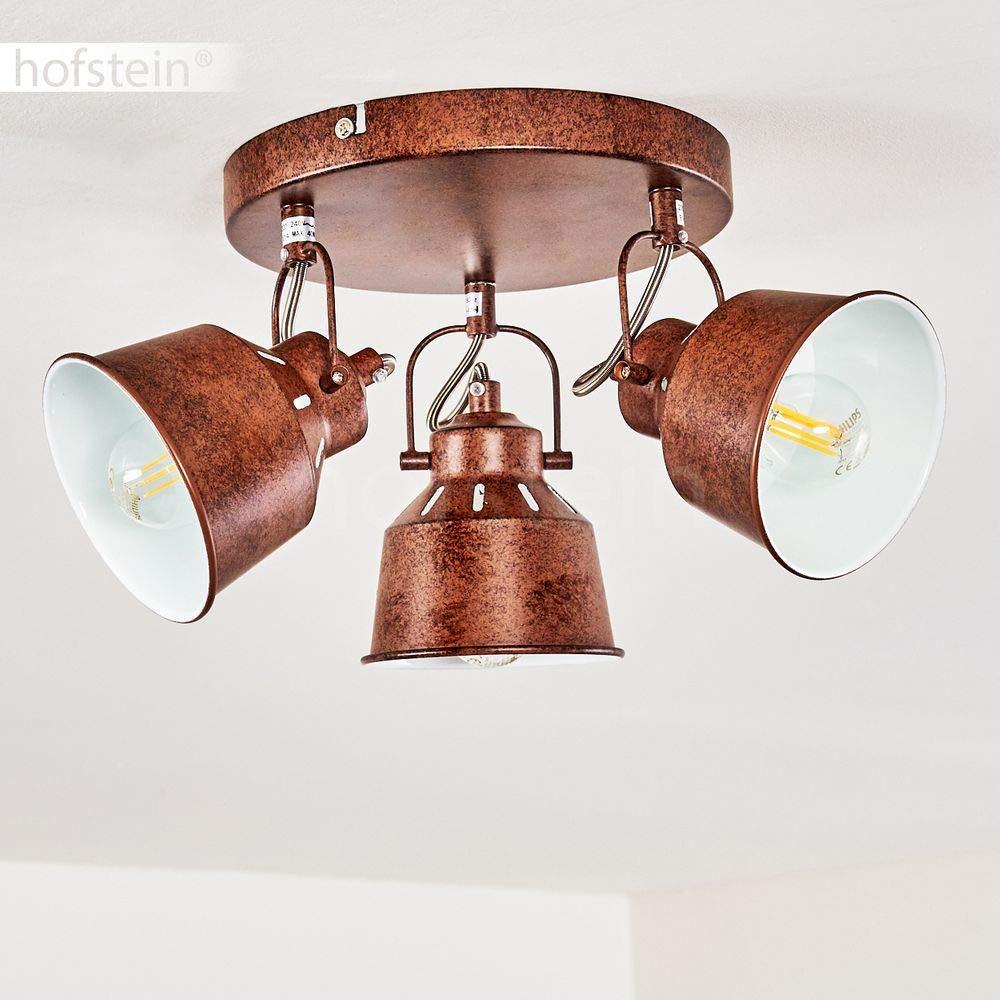 in metallo nero//dorato lampadine con attacco E14 max Plafoniera orientabile Safari In stile retr/ò//vintage. 2 luci 40 Watt adatta per lampadine a LED
