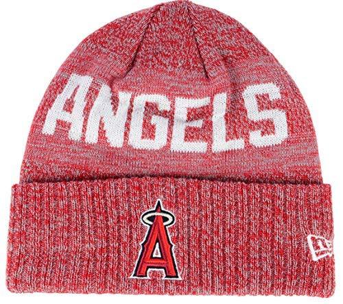 Angels Beanie - New Era Los Angeles Angels Crisp Colored Knit Cuffed Hat Logo Sport Knit Hat