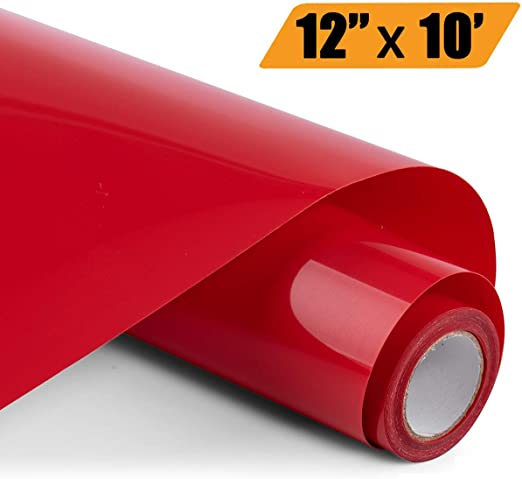 Glitter HTV Iron on Vinyl 10inch x 8feet Roll by SOMOLUX for Silhouette and Cricut Easy to Cut /& Weed Heat Transfer Vinyl DIY Heat Press Design for T-Shirts Red