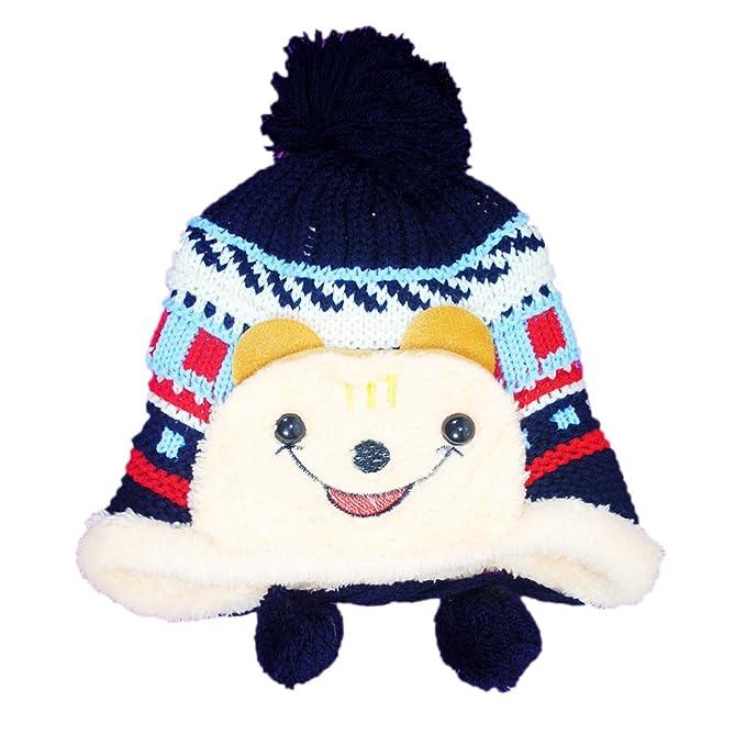 6a976f809fb Favino Beautiful Winter Wear Cap for Baby Girls Boys Woolen Cap Hat Warm  Knit Cap