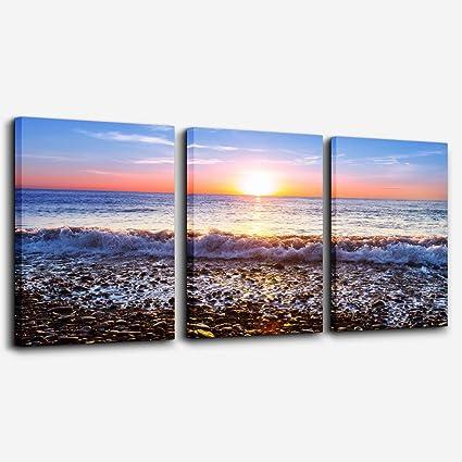 "Beach Theme Landscape Painting HD Print Canvas Home Decor Room Wall Art 16/""x26/"""