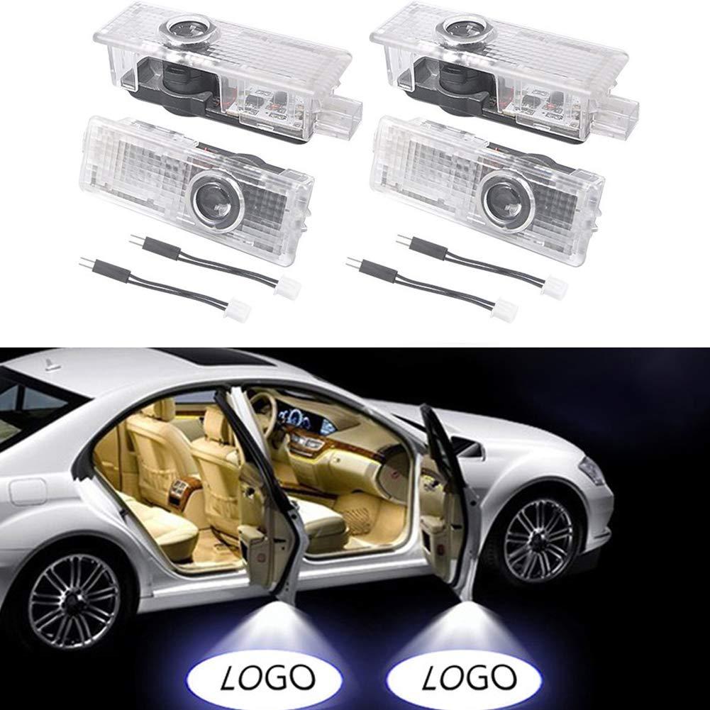 Lumiè res de porte de voiture, NOTES Porte de voiture Logo Lumiè re de Projection Lumiè re Laser 3D Bienvenue Lumiè re LED Porte Ombre Lampe (2 Pieces) NOTENS