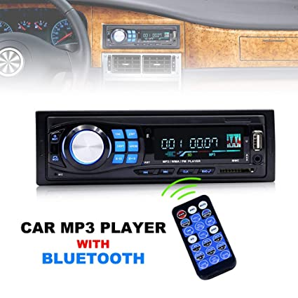 amazon com salabox accessories 12v 1 din bluetooth car radio mp3image unavailable image not available for color salabox accessories 12v 1 din bluetooth car radio mp3 player vehicle auto stereo audio