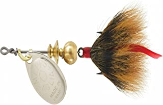 product image for Mepps Aglia Dressed Treble Fishing Lure, 1/12-Ounce, Silver/Brown Tail