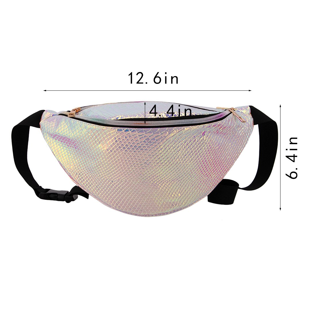 Naimo Waterproof Holographic Laser Fanny Pack Bum Bag Purse Waist Bag (Laser Purple) by Naimo (Image #5)