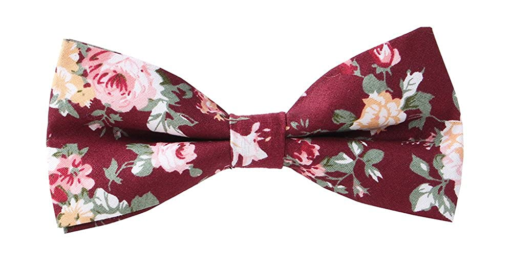 May Lucky Men's Cotton Floral Bow Tie