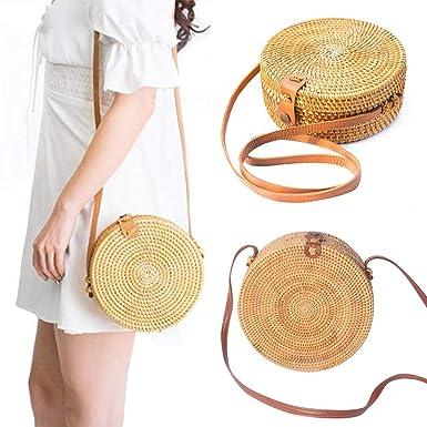 Amazon.com: Bolso de hombro para mujer, redondo, estilo ...
