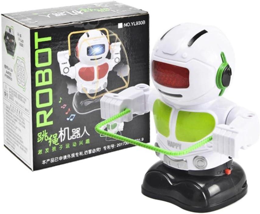 fiaya niños electrónica cuerda saltando Smart Bot Robot música luz juguetes, Verde: Amazon.es: Deportes y aire libre