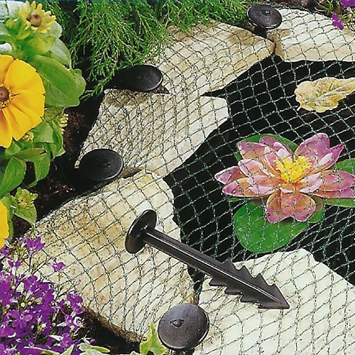 Heron Pond Cover Net - Garden Koi Fish Pond Pool Netting Fox Protector + Pegs (3 x 4m)