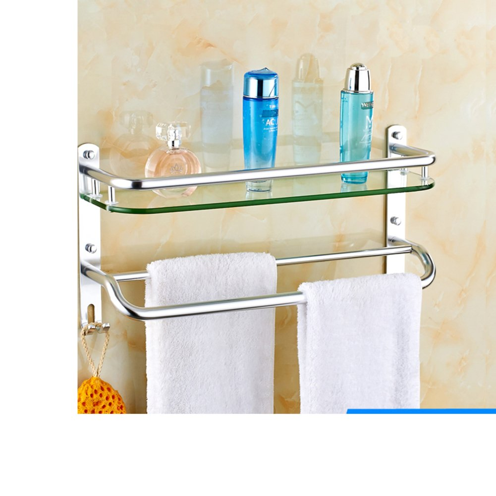 50%OFF Space aluminum bathroom racks/Glass rack/Toilet wall hanging racks-D