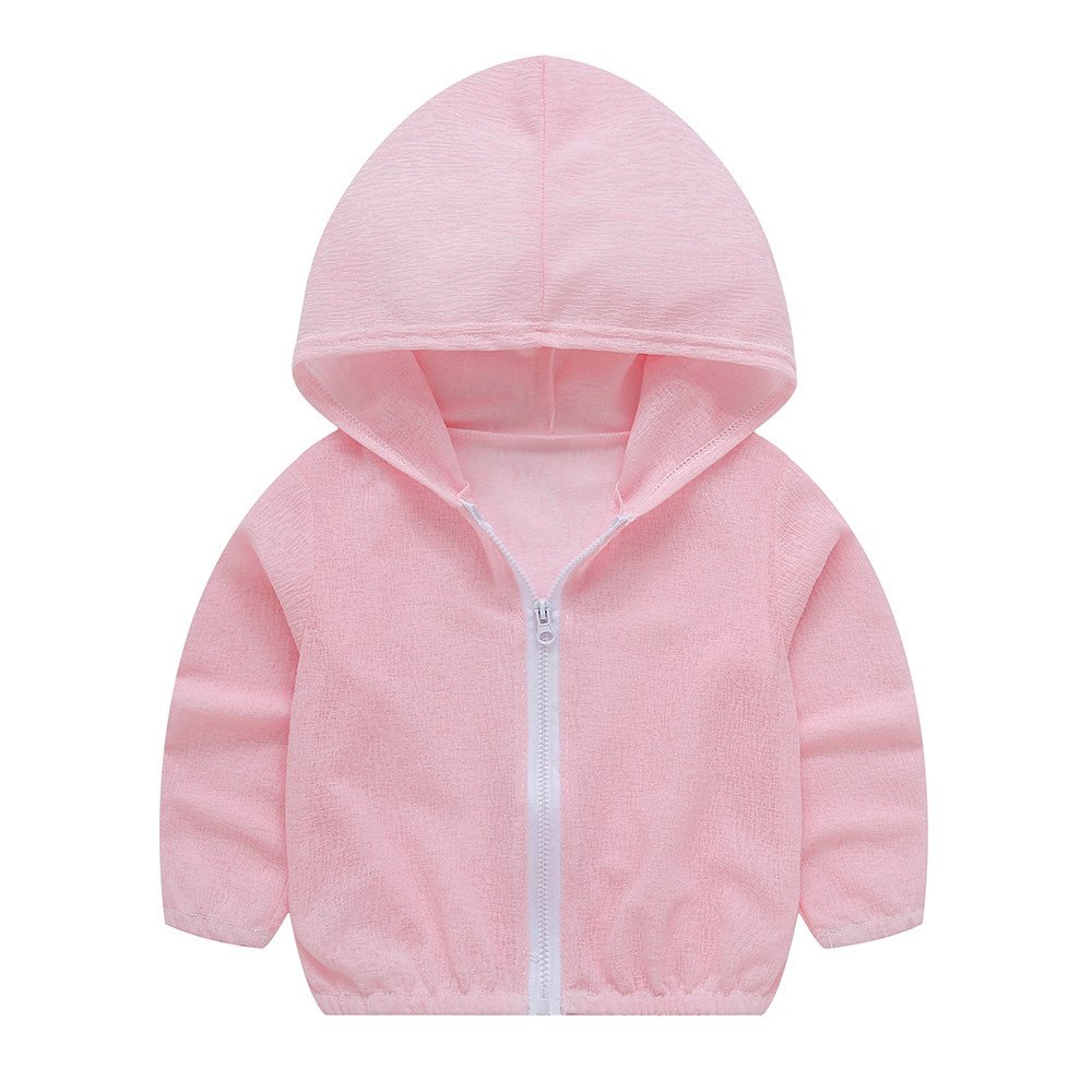 Turkey for 2-7 Years Old, Cotton Sun Protection Hoodies Outerwear Baby Little Girls Boys Toddler Summer Sunscreen Jackets