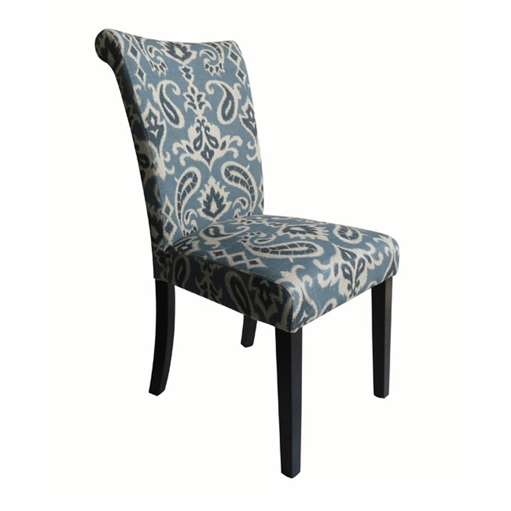Amazon.com: Monsoon Pacific Voyage Upholstered Dining Chairs, Blue ...