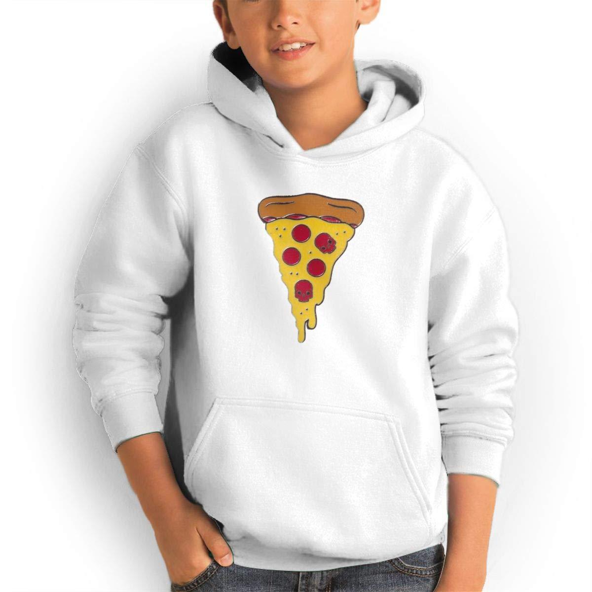 Pocket Pullover Hoodies Sweatshirt Honins Youth Leisure Sports Pizza