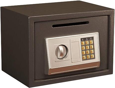Oficina y papelería Caja de seguridad, teclado de acero digital Seguridad interior de acero Alarma incorporada Montaje en la pared Caja fuerte negra 35 * 25 * 25 cm 9-26: Amazon.es: Bricolaje y herramientas