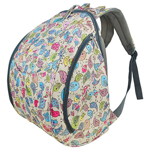 ECOSUSI Large Baby Diaper Backpack Changing Bag Colorful