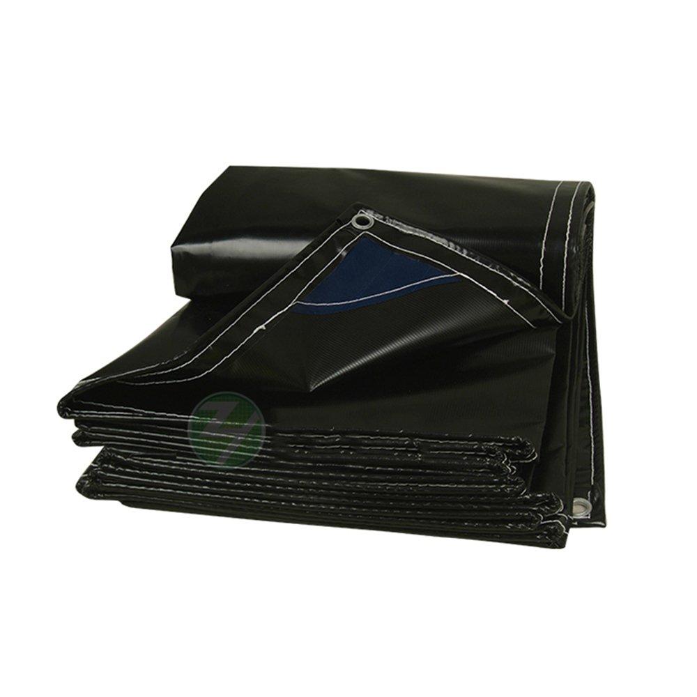 Plane GJM Shop Wasserdichte Verdicken PVC-haltbares industrielles Abdeckungs-Tuch-im Freien Markisentuch 650g   m² -0.5mm - Multifunktionale