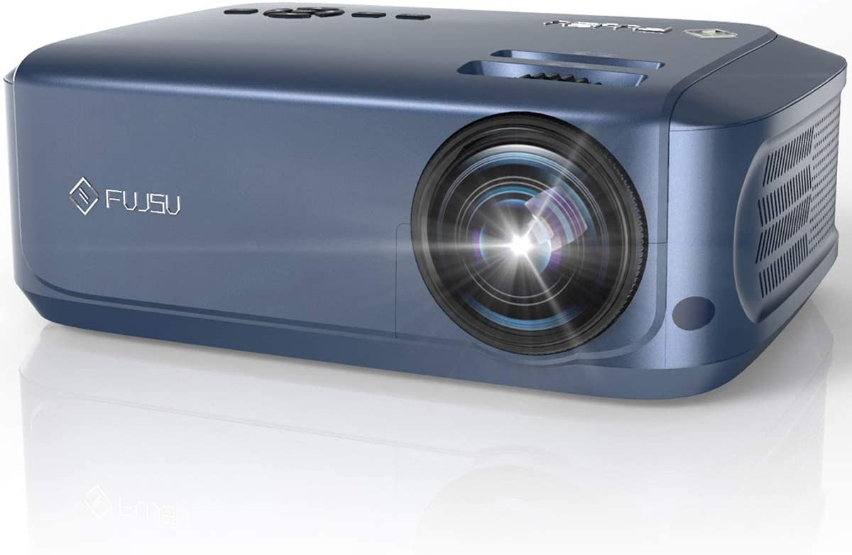 Video Projector, FUJSU Home Theater Projector Outdoor Projector with Native 1080P, Professional Full HD Business Projector PowerPoint Projector Compatible with Laptop, Smartphone, HDMI, Fire TV Stick