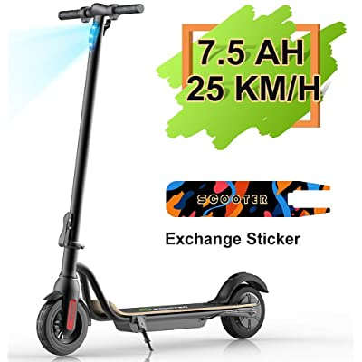 "MEGAWHEELS S10 Electric Scooter Commute to Work or Ride for Fun, 7500 mAh Long Range Battery, Up to 25 KM/H, 8.0"" Tires, Portable and Folding Commuter Electric Scooter for Adults (Black) : Sports & Outdoors"