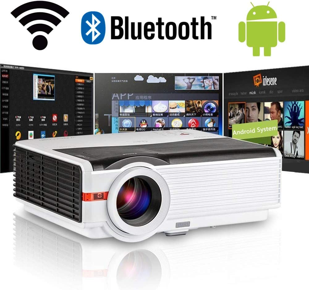 LED Wifi Proyectores HD inalámbricos con Bluetooth HDMI Altavoces ...