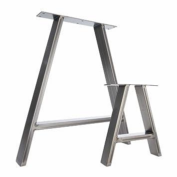 2 X Tischbeine Stahl A Design Amazonde Baumarkt