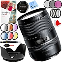 Tamron 16-300mm f/3.5-6.3 Di II VC PZD MACRO Lens for Nikon Cameras with 67mm Filter Sets Plus Accessories Bundle
