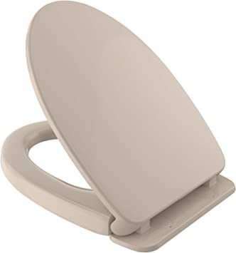 TOTO Elongated Toilet Seat with Soft Close Lid SS114#03 Transitional Bone