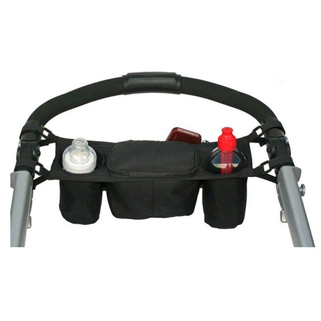 Portable Baby Stroller Organizer Bag Bottle Cup Holder Diaper Storage Bag