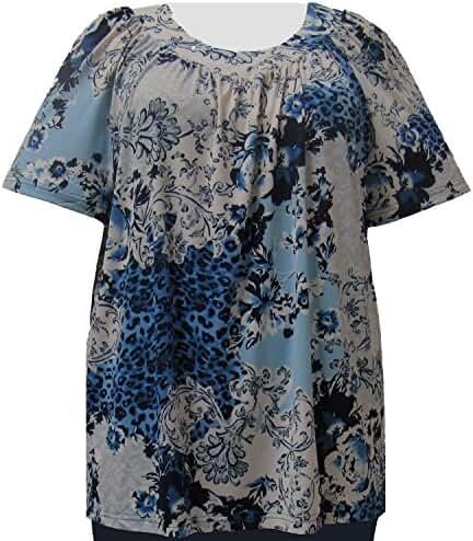 A Personal Touch Leopard Lace Women's Plus Size Top