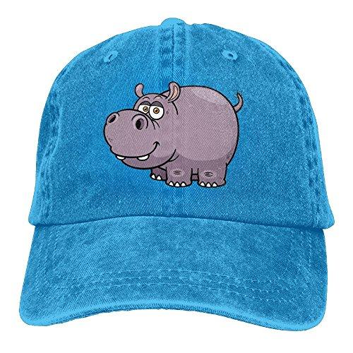 E-Isabel Hippo Adjustable Running Cotton Washed Denim Hats RoyalBlue
