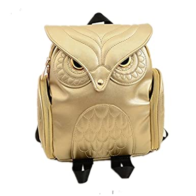 Amazon.com | HEYFAIR Women Cute Owl Leather Backpack Casual ...