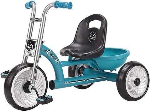 Triciclo Pedales Coche Niño Bicicleta Asiento Ajustable de Ruedas Gomas Conducción Silenciosa Niños de 6 Meses a 5 Años Máx 30 kg, Blue: Amazon.es: Deportes y aire libre