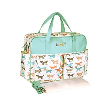 Insular Diaper Tote Bag for Women Baby Nappy Bags for Mom Purple Changing Bag Canvas