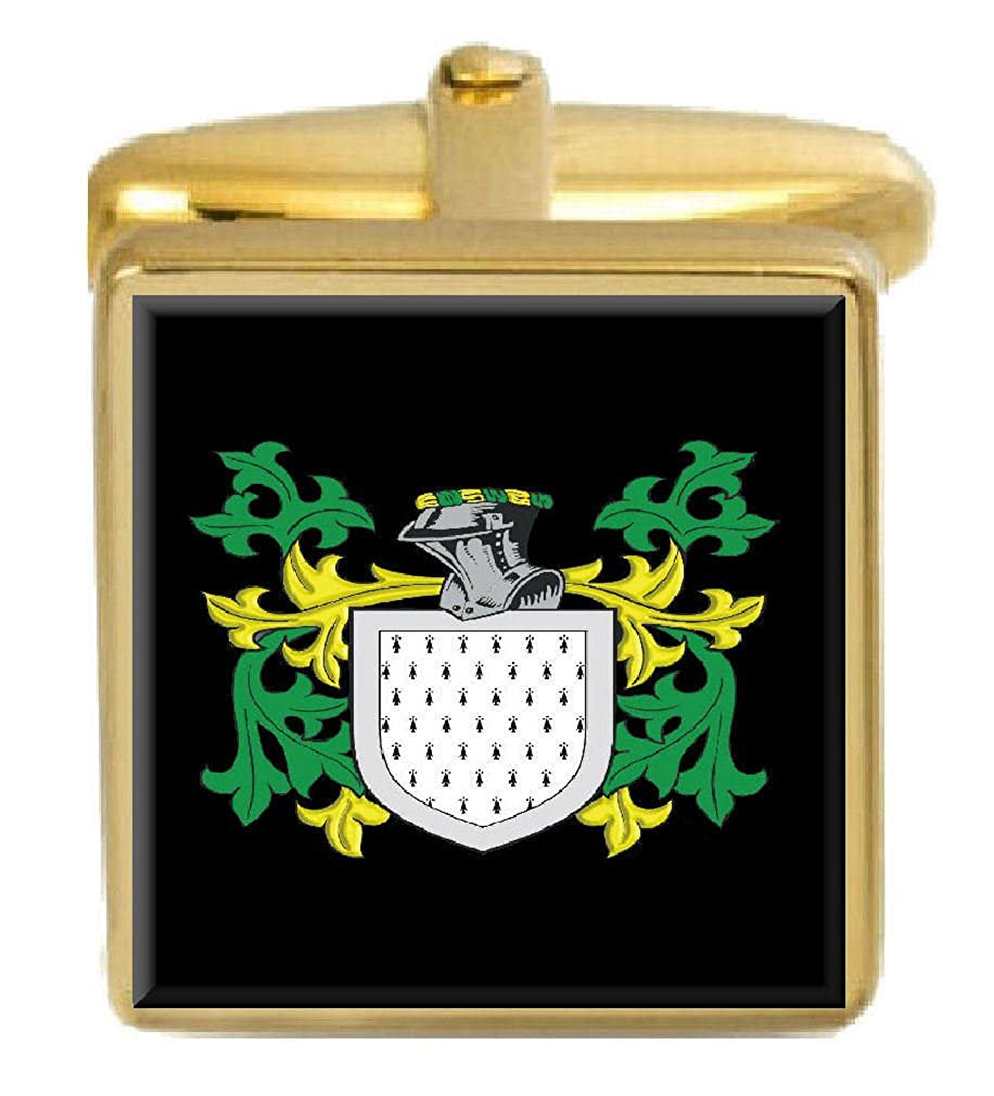 Select Gifts Handel England Family Crest Surname Coat Of Arms Gold Cufflinks Engraved Box