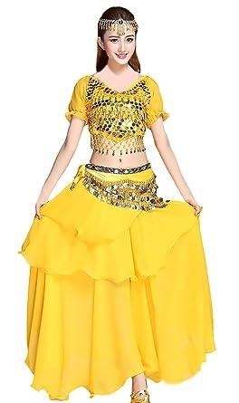 Mujer Danza del Vientre Indian Dance Trajes 5 Piezas ...