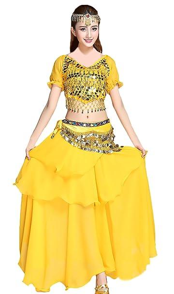 33645ef14 Mujer Danza del Vientre Indian Dance Trajes 5 Piezas Conjunto ...