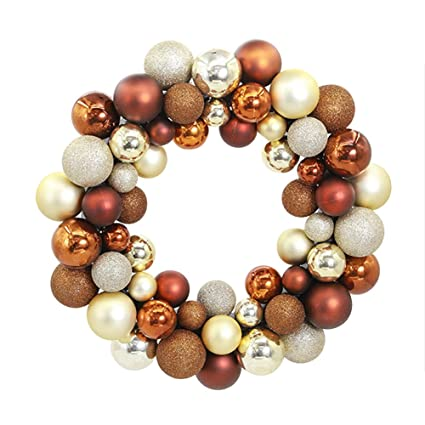 aimeart glittery christmas balls wreath garland ornaments christmas tree orbs mardi gras balls arcades small decorations - Christmas Ball Wreath