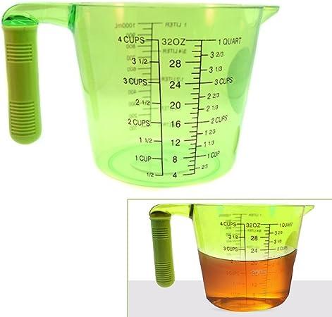 Cooke /& Miller 2 Litre Clear White Plastic Measuring Jug
