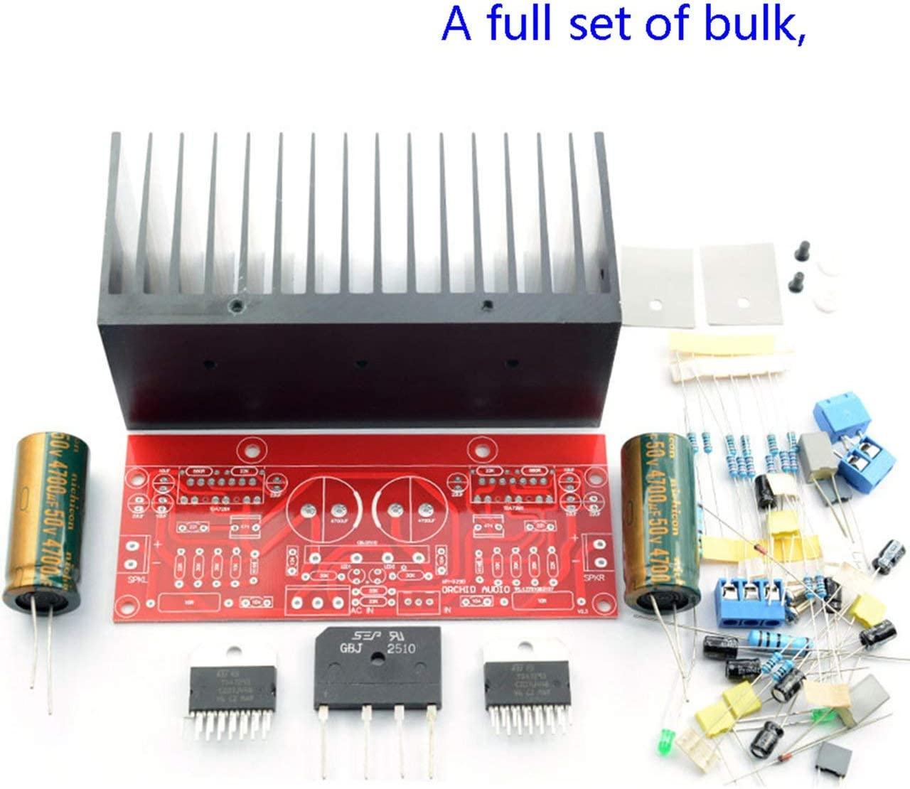 Dual AC12-32V 2.0 Channel 100 + 100W TDA7293 HiFi Stereo Audio Amplifier Module Board DIY Kit Producto Terminado (Rojo) ESjasnyfall