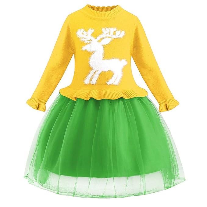 Vectry Navidad Vestido De Niñas Princesa Vestido Niñas Vestido De ...