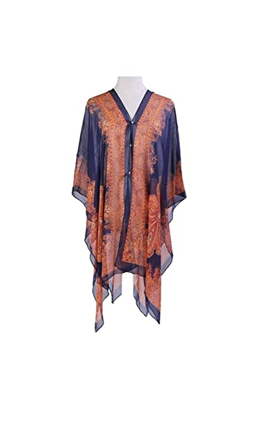 14daa502ac5c4 Image Unavailable. Image not available for. Color: Ab Collection Royal Blue  Beach Cover-up ...
