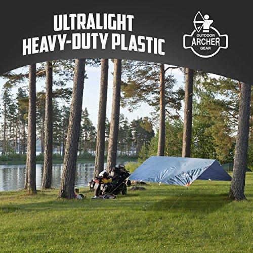 Archer Outdoor Gear All-Weather Sturdy, Waterproof, Rain & Fly Camping Tarp