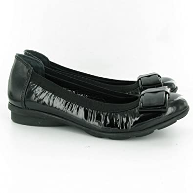 ff88b046fbe Heavenly Feet Shoes Juniper 2 Black Patent Black EU39  Amazon.co.uk ...