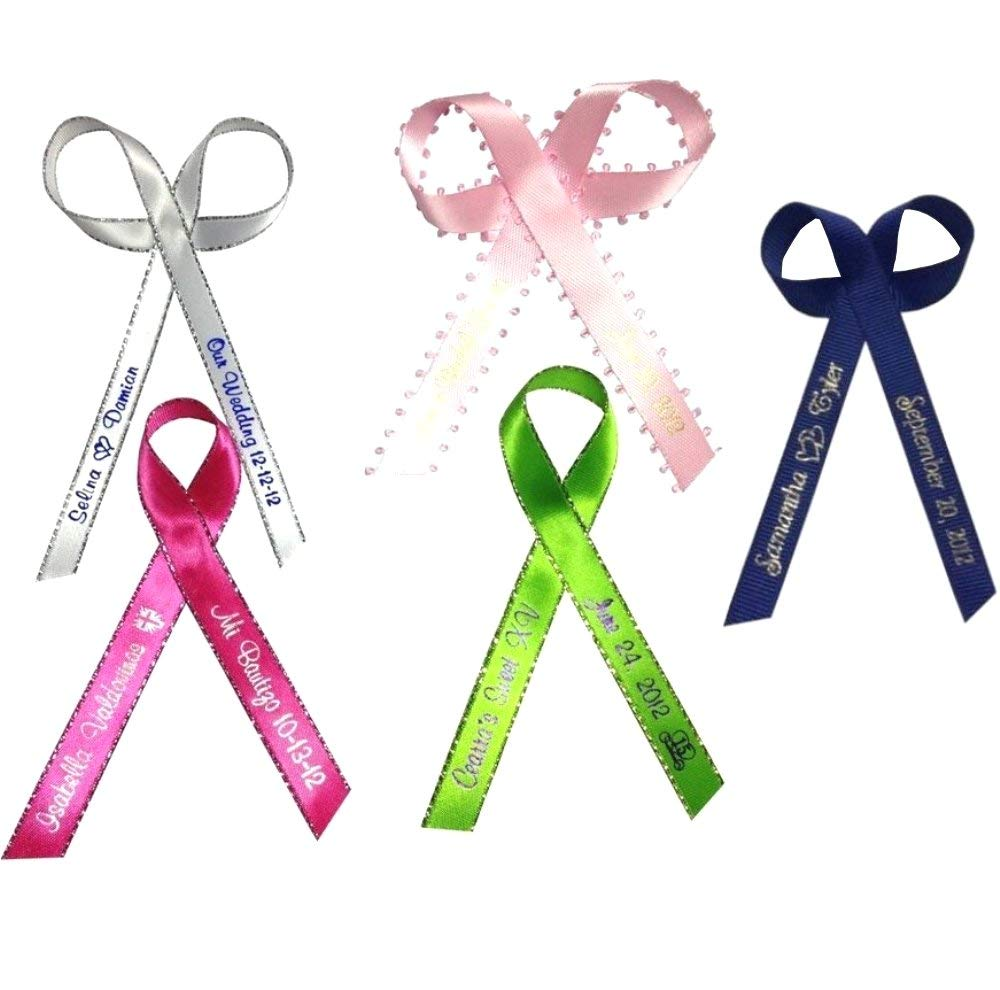 300 Personalized Favor Printed Ribbon 1/4'' or 3/8'' for Birthday. Baby Shower, Sweet 15, 16 other Occasion