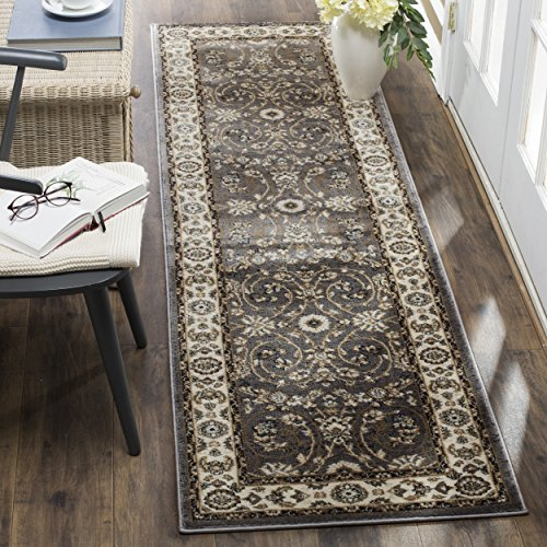 Safavieh Lyndhurst Collection LNH340G Oriental Grey and Cream Runner (2'3