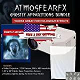 AtmosfearFX Ghostly Apparitions Windows FX SD Media Card Video Projector Bundle, No DVD Player Required. 1200 Lumen and 640 x 480 Resolution