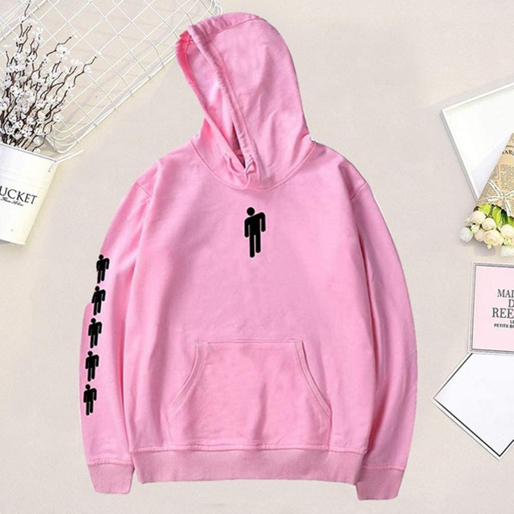✦HebeTop✦ Unisex Billie Eilish Printed Casual Pullover Hoodie Sweatershirt for Music Fans